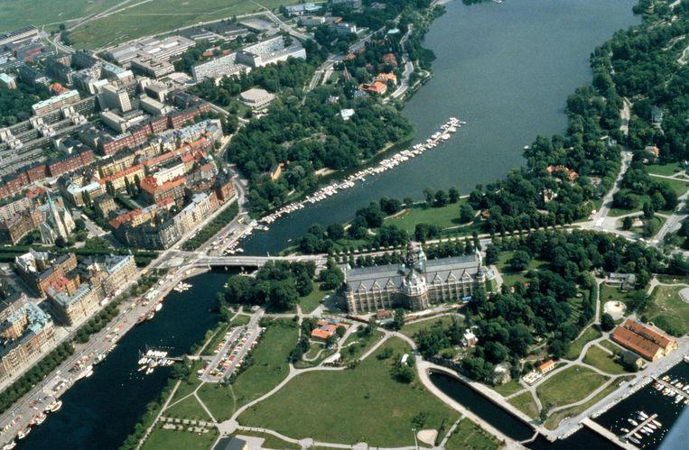 De Zweedse hoofdstad Stockholm, gezien vanuit de lucht. Beeld Getty