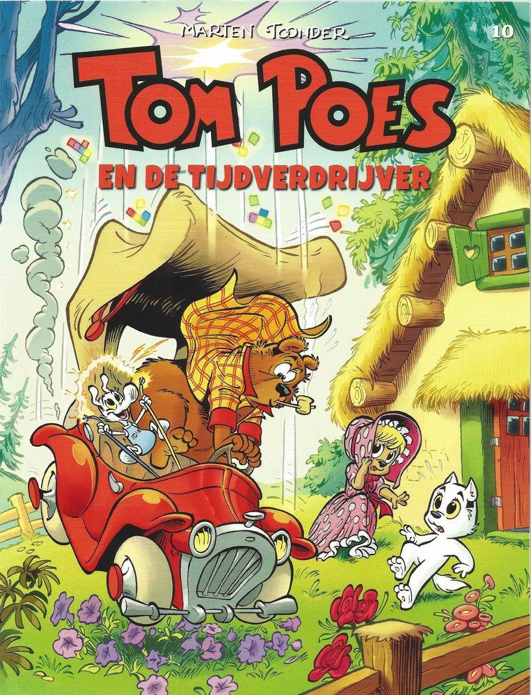 Omslag van Tom Poes en de tijdverdrijver, getekend door Tim Artz. Beeld Stichting Het Toonder Auteursrecht