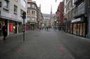 De rode eenrichtingspijlen in Leuven zijn al vervaagd