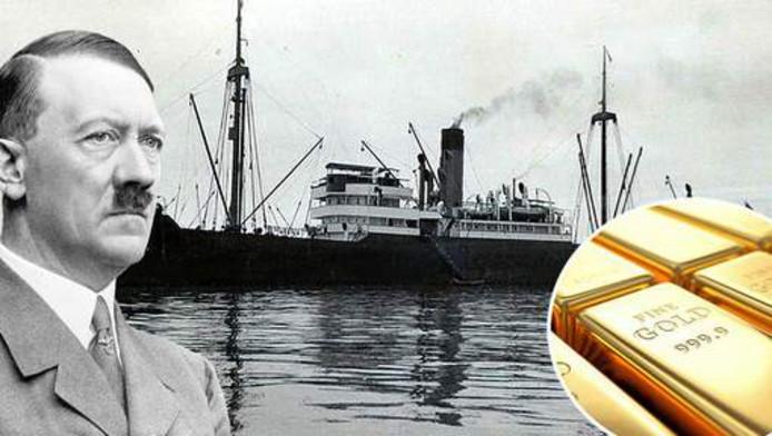 Hitler wilde niet dat zijn buit in Britse handen zou vallen. Hij liet het schip zinken.