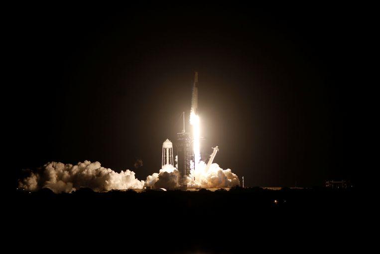 De lancering van Crew-1. Beeld REUTERS