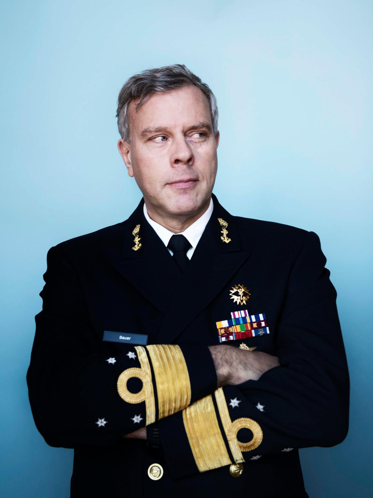 Admiraal Rob Bauer neemt afscheid als commandant der strijdkrachten. Hij is benoemd tot voorzitter van het NATO Military Committee. Beeld Kiki Groot