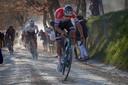 Mathieu Van Der Poel won dit voorjaar Strade Bianche. Hij is er in de Giro niet bij.