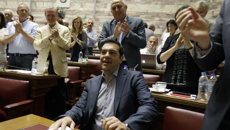 Tsipras is niet de amateur zoals hij vaak wordt afgeschilderd, zegt Ferdi De Ville. Beeld AP