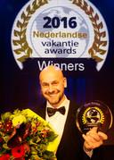 Flowdirecteur Richard Ruiter tijdens de uitreiking van de Nederlandse Vakantie Awards in 2016.
