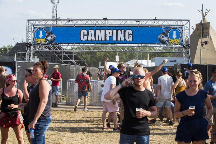 De ingang van de camping van de 23e editie van de Zwarte Cross.
