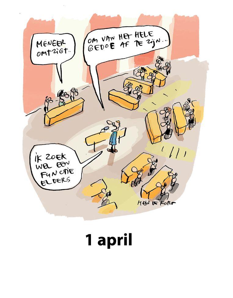 1 april 2021. Beeld Hein de Kort