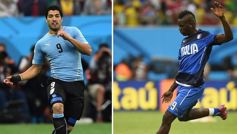 Suàrez versus Balotelli Beeld afp