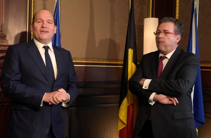 Rudi Vervoort, ministre-président bruxellois et Philippe Close, bourgmestre de Bruxelles (PS).