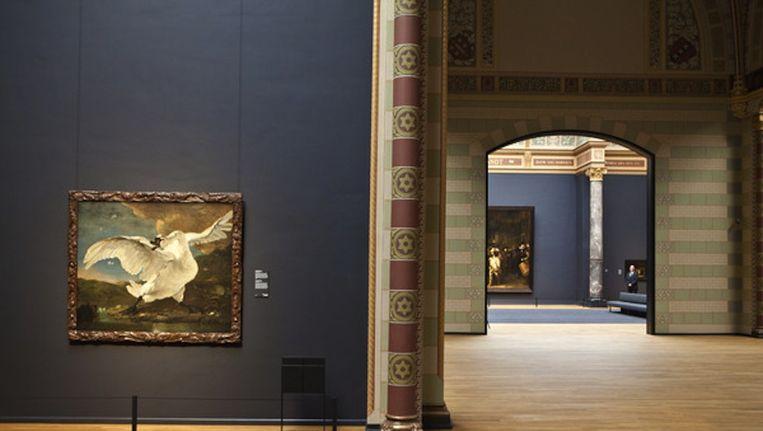 De Bedreigde Zwaan van Jan Asselijn, in de eregalerij van het Rijks Beeld Floris Lok