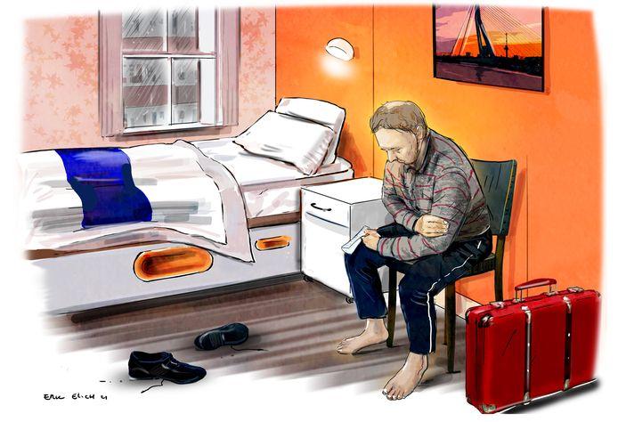 Daklozen werden opgevangen in het EasyHotel.