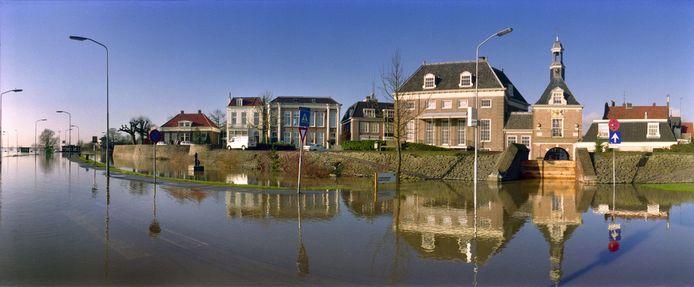 Hoogwater in Tiel, 1995.