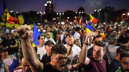 Groot protest tegen regering Roemenië