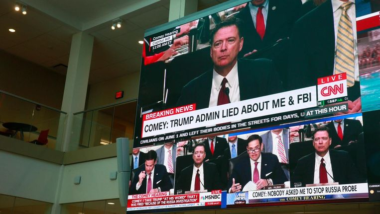 James Comeys verklaring op CNN Beeld Photo News