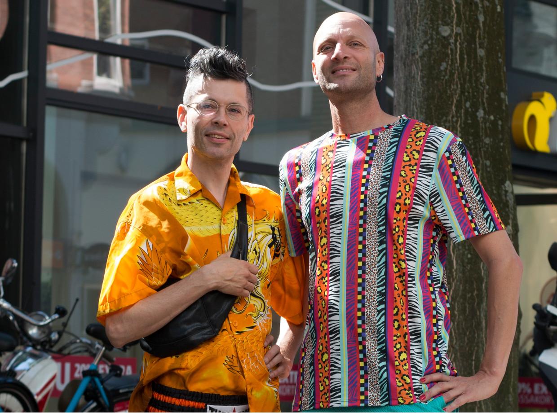 Pascal van Zijl  (44) rechts op de foto, links Joshua Beeld Sarah Amrani
