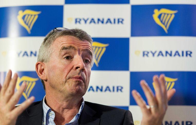 Michael O'Leary, topman van Ryanair. Beeld EPA