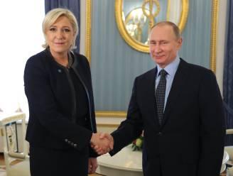 """Voor Marine Le Pen vertegenwoordigt Poetin """"nieuwe visie"""" op wereld"""