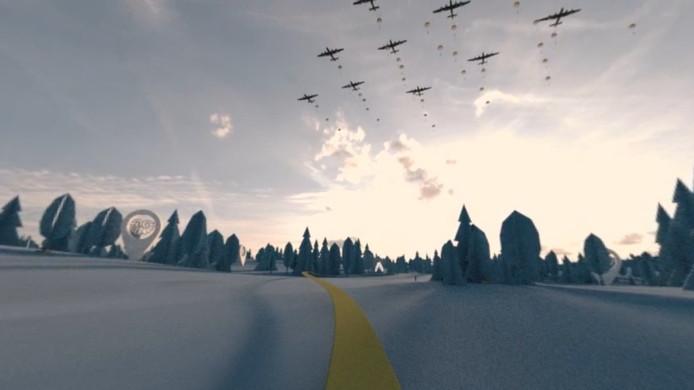 Landing op de Ginkelse Heide bij Ede.
