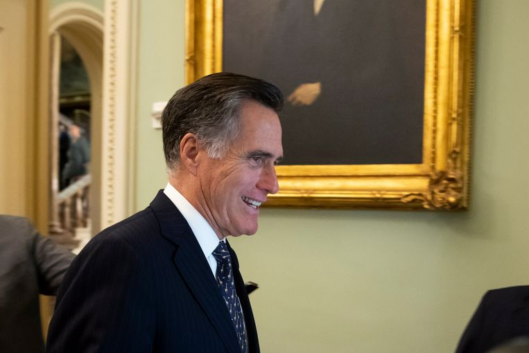 Senator Mitt Romney, voormalig presidentskandidaat en een Republikeinse tegenstander van partijgenoot Trump.