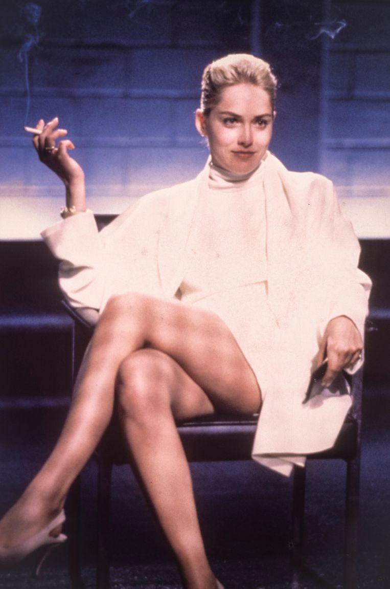 Sharon Stone in 'Basic Instinct' (1992). Beeld Alamy Stock Photo