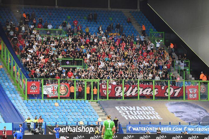 Het uitvak afgelopen zondag bij Vitesse. Toen mocht het nog slechts voor twee-derde worden gevuld.