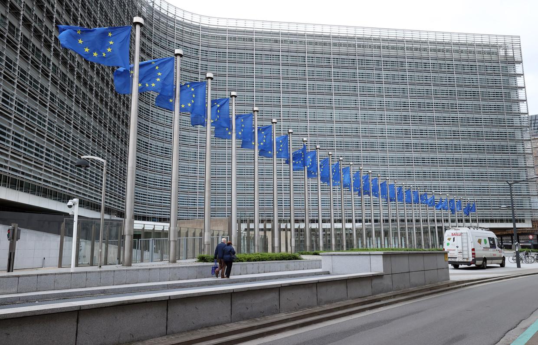 Het hoofdkantoor van de Europese Commissie in Brussel. Beeld Getty Images