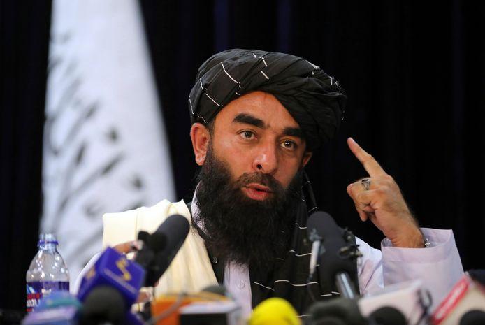 Zabihullah Mujahid, porte-parole des Talibans