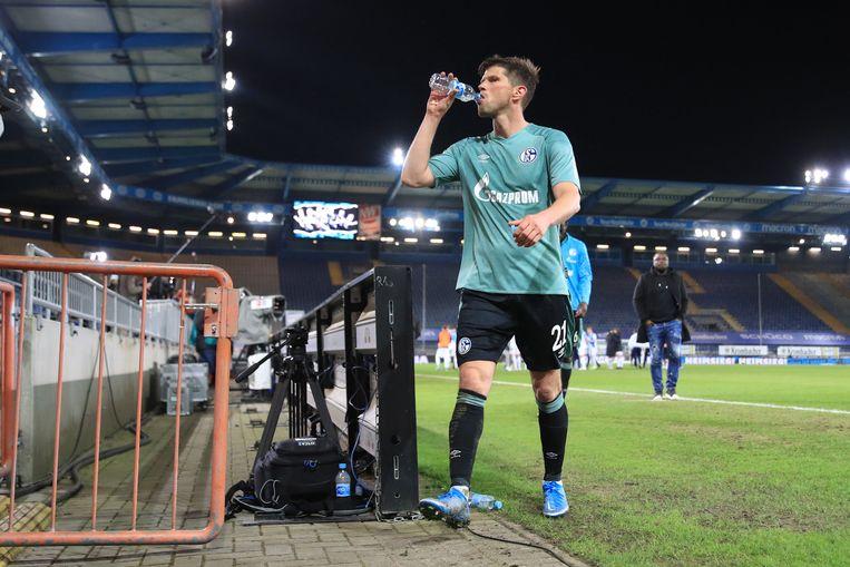 Bij Schalke 04 genoot Huntelaar van de dramatische ontwikkelingen rond de club. Beeld AFP