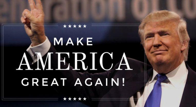 Een digitale advertentie van Trump. Beeld rv