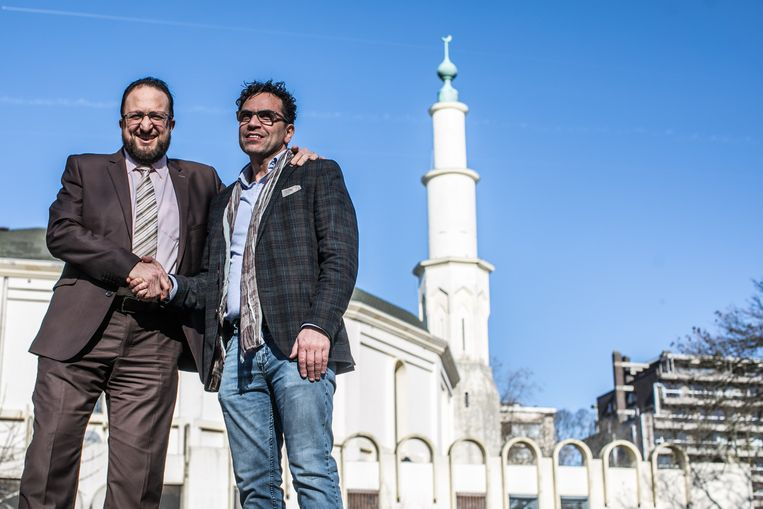 Nordine Taouil en Brahim Laytouss willen de Grote Moskee uitbaten Beeld BAS BOGAERTS