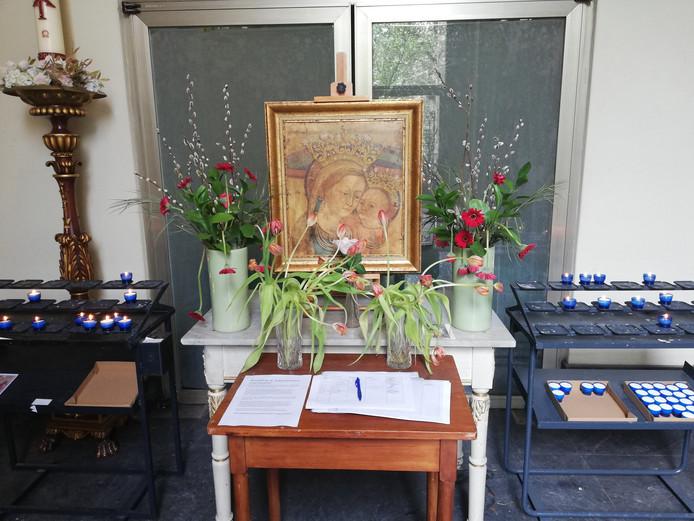 De petitie voor behoud van de kerk in de kapel van de Augustinuskerk aan de Oudegracht.