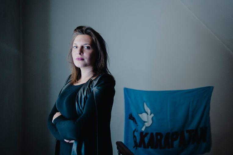 Issabel De Fré: 'Ja, de advocatuur is een mannenwereld. En ja, er haken veel vrouwen af, maar dat is omdat ze kiezen voor hun gezin.' Beeld Daniil Lavrovski