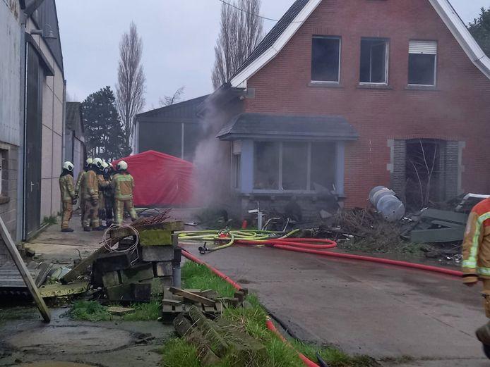 De bewoonster overleefde de brand in Letterhoutem niet.