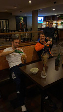 Biertje met Hein Otterspeer na EK sprint, toen er na afloop 1 alcoholisch drankje mocht worden genuttigd.