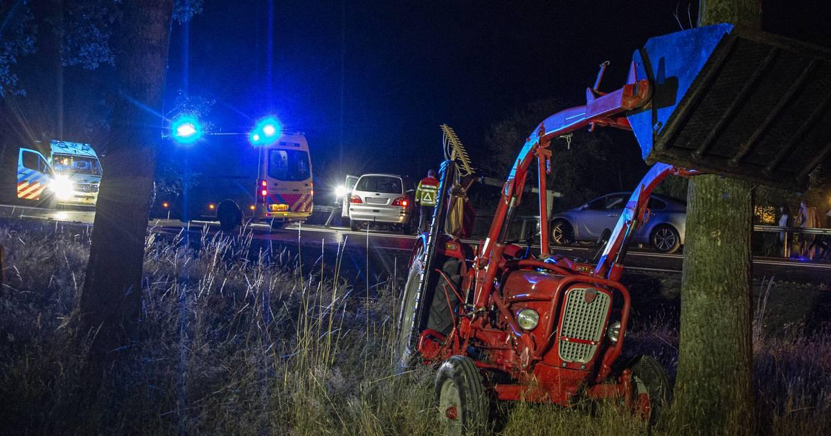 Twee gewonden bij botsing op net gerenoveerde N35 bij Haarle.