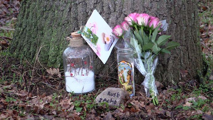 Een monumentje voor Lotte, vlakbij de plek waar haar lichaam is gevonden.