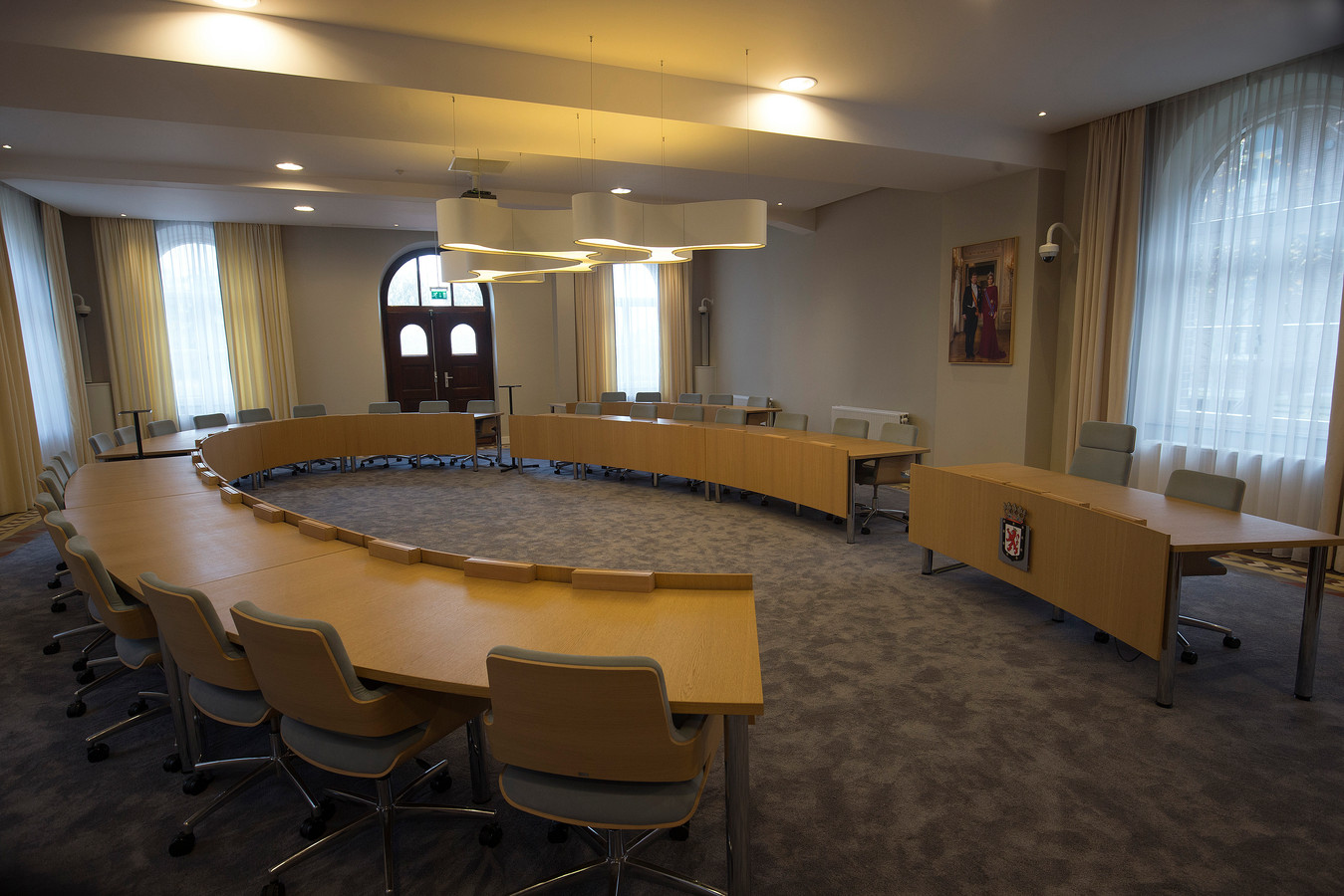 De raadszaal in Gouden Handen in 's-Heerenberg.