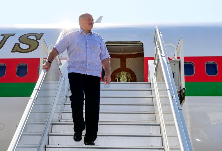 De Belarussische leider Aleksandr Loekasjenko. Beeld AP