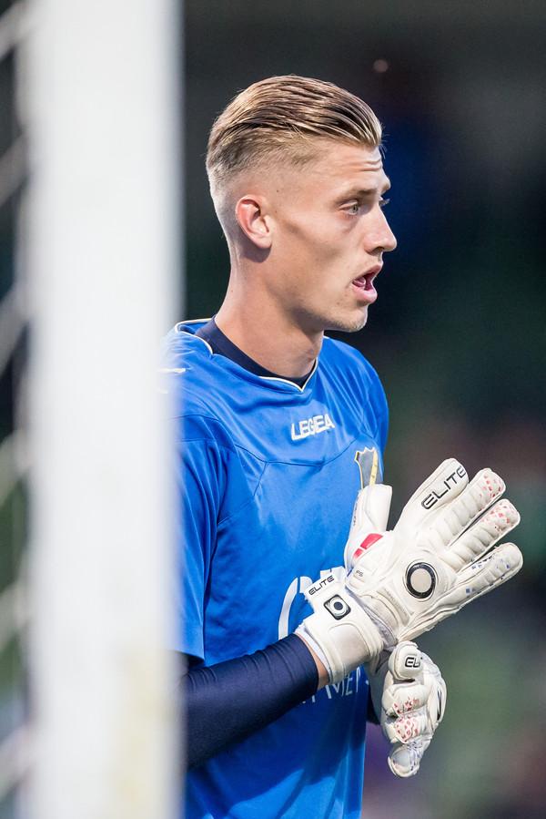 DORDRECHT - FC Dordrecht - NAC , Jupiler league , Voetbal , Seizoen 2016-2017, Riwal Hoogwerkers Stadion , 22-08-2016 ,  NAC keeper Andries Noppert
