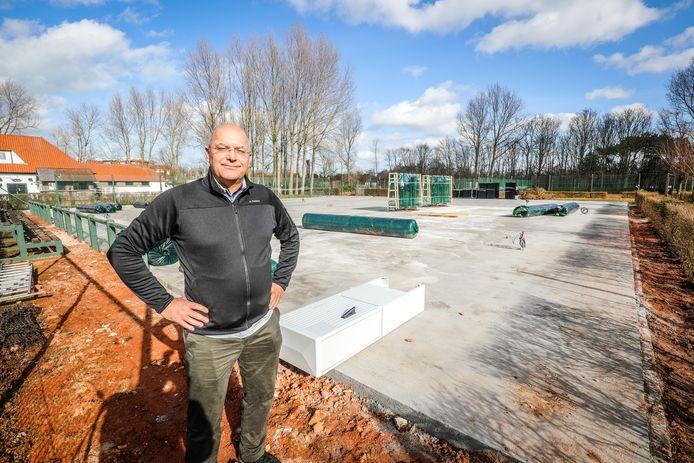 Voorzitter Christophe Verhaeghe van De Royal Zoute Tennis Club in Knokke.