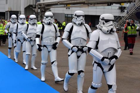 Foto van Star Wars-vliegtuig landt op Brussels Airport