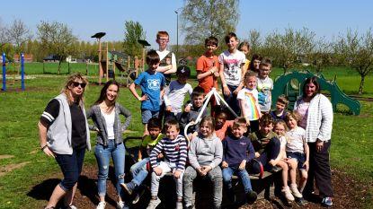 Kinderen van 't Sterretje genieten in de speeltuin