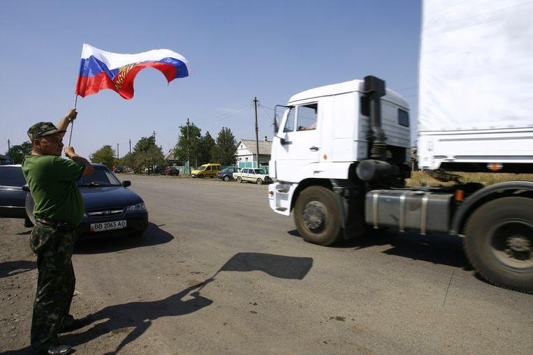 De organisatie liet verder weten dat een Rode Kruis-team in Loehansk melding heeft gemaakt van hevige nachtelijke beschietingen. Beeld afp