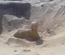 Egyptische archeologen hebben bij opgravingen in de stad Mallawi een miniatuursfinx ontdekt