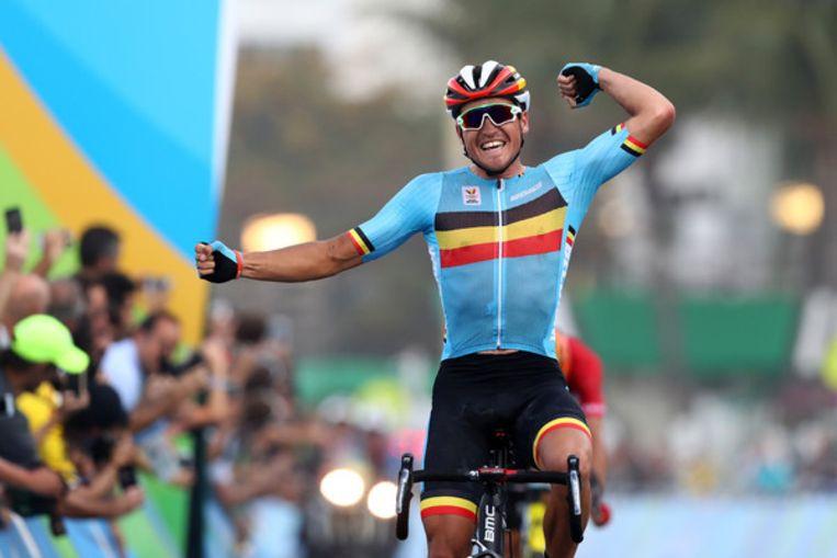 Greg Van Avermaet pakt olympisch goud in Rio de Janeiro. Beeld Getty Images