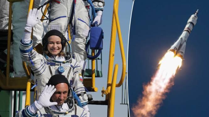 Gelukt: Russische filmploeg met Sojoez-draagraket richting ISS gelanceerd, voor eerste échte ruimtefilm