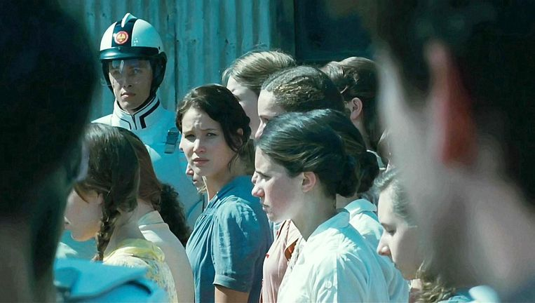 Jennifer Lawrence in The Hunger Games. Beeld