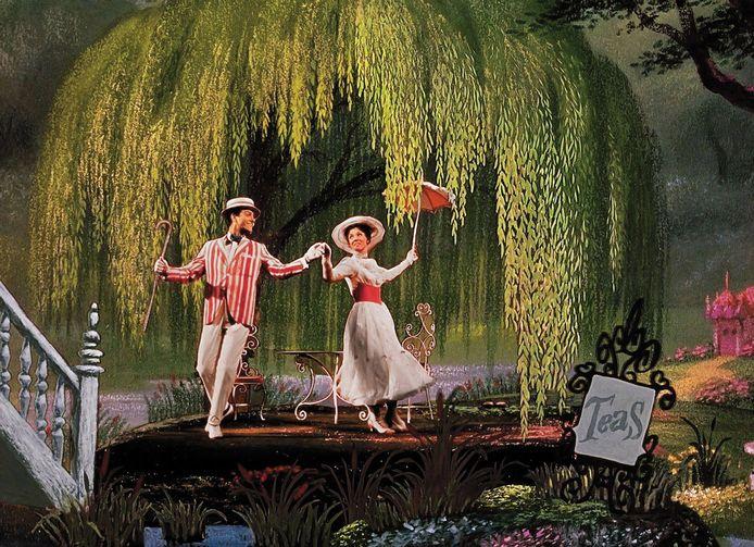 Dick Van Dyke als Bert en Julie Andrews als Mary Poppins