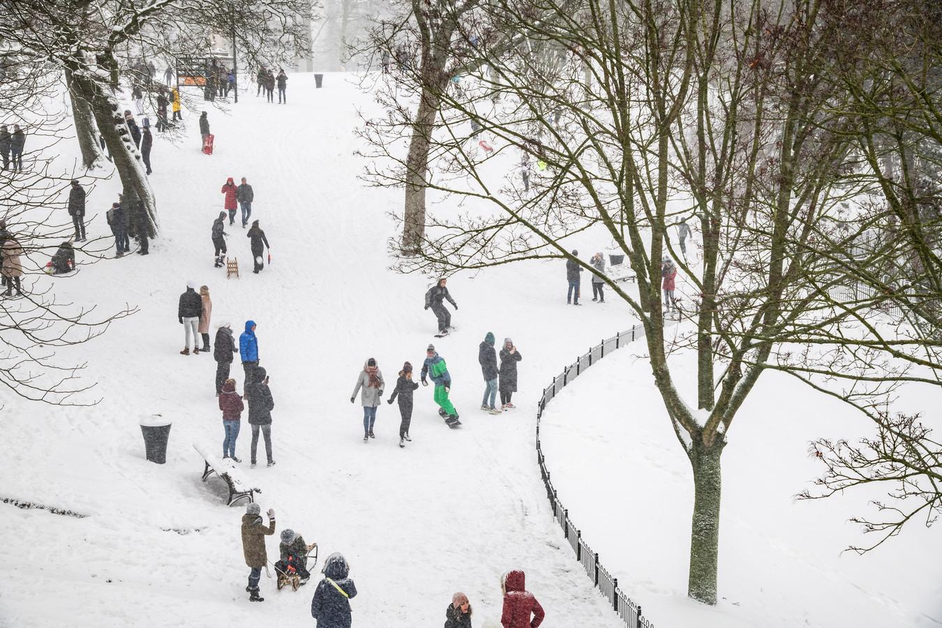 Sneeuwlandschap in het Kronenburgerpark.