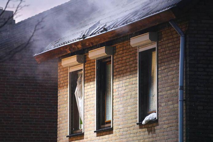 Veel schade door de brand.